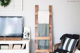 Diy Ladder Shelf Shelves Tutorials by Ana White Blanket Ladder Diy Projects