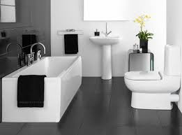 Black And White Bathroom Decorating Ideas by Dramatic Bathroom Wall Lighting Design With Black Color Wall