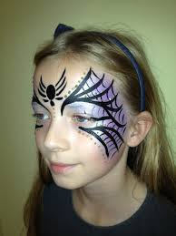 spider mask face paint for halloween spider mask face paint