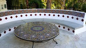 Outdoor Moroccan Furniture by Moroccan Patio Backsplash Design Ideas Moroccan Tiles Los Angeles