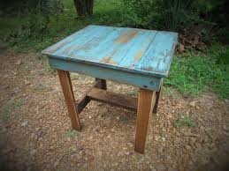 Handcrafted Wood Tables Turquoise End Table Rustic Table Southwest Furniture Cabin
