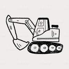 excavator doodle stock vector art 473948186 istock