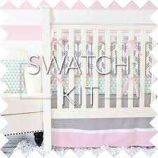 Brown And Pink Crib Bedding Arrow Crib Bedding Caden