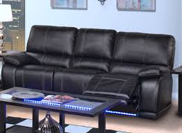 Black Leather Sofa Recliner Reclining Sofa Chinaklsk