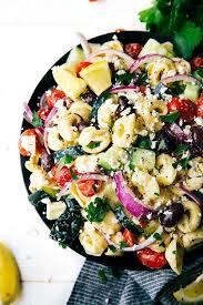 pasta salad with mayo easy greek tortellini pasta salad chelsea s messy apron