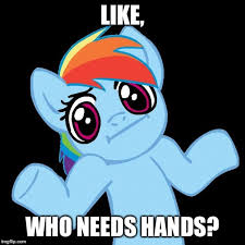 Meme Pony - pony shrugs memes imgflip