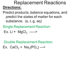 what are the six types of chemical reactions ppt video online