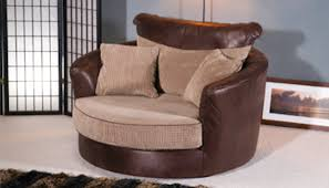 Fabric Swivel Chairs by Furniture Attractive Three Pcs Cushion And Charming Brown