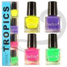 technic nail varnish set 4 x 6ml natural polish in pink