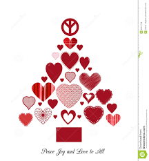 love and peace christmas tree stock photo image 35571760