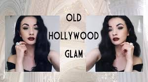 old hollywood glamour hairstyles tutorial old hollywood glam full tutorial hair and makeup youtube