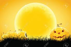 halloween moon background orange halloween moon