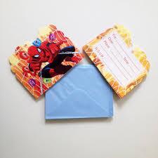 12pcs invitation card boys spiderman theme birthday party supplies