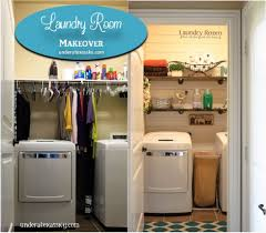 shiplap wall accent laundry room makeover