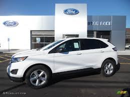 white ford edge 2015 oxford white ford edge se awd 107202435 gtcarlot com car
