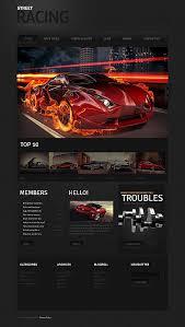 website templates speed club street racer custom website template
