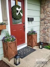 Front Door Planters by Diy Planter For Curb Appeal And Garden Design Prodigal Pieces