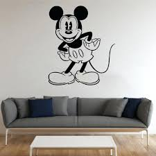 Mickey Mouse Clubhouse Bedroom Decor Wall Ideas Mickey Mouse Vinyl Wall Art Image Of Mickey Mouse