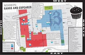 San Francisco Walking Map by Gangs And Cupcakes Missionlocal