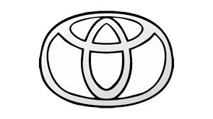 toyota corolla logo how to draw the toyota logo symbol emblem youtube