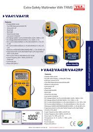v u0026a extra safety multimeter with trms va41 va42 electric