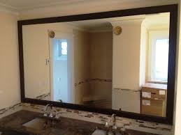 how diy framing bathroom mirror designs image large framed mirrors for bathrooms design