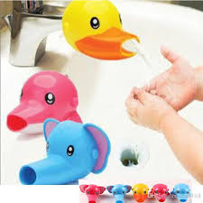 Faucet Extenders 2017 Cartoon Animal Baby Kids Elephoant Dolphin Duck Water Tap