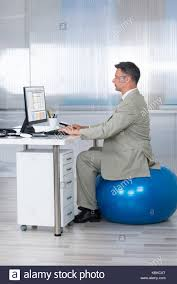 fitness ball business man stock photos u0026 fitness ball business man