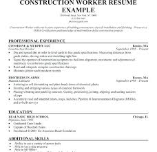 construction worker resume resume of a construction worker resume construction worker