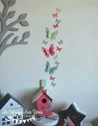 d馗oration papillon chambre fille decoration papillon chambre deco papillon stickers papillon vert