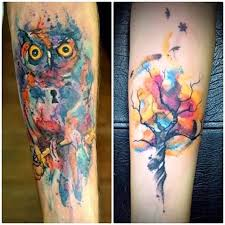 scary aqua owl bird design with tree goluputtar com