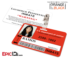 inmate halloween costume litchfield penitentiary u0027oitnb u0027 inmate wearable id badge ramos