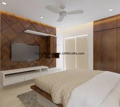3bhk apartment complete interior design in pune by 100krafts