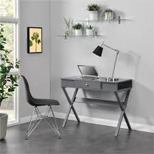 Sutton L Shaped Desk by Ameriwood Furniture Paxton Campaign Desk Gray