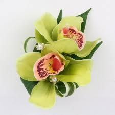 green cymbidium orchid wrist corsage dg dubon