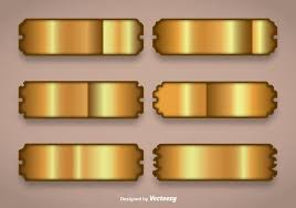 gold name plates shiny gold name plate vectors free vector stock