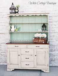 fascinating accent painted country kitchen built in hutch hutches