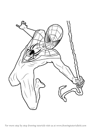 learn draw miles morales ultimate spider man ultimate