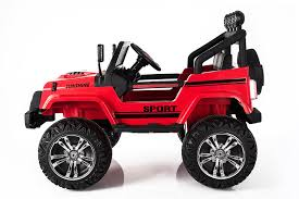 kids red jeep ricco s2388 4x4 kids electric ride on car with remote control led