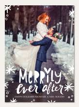 newlywed christmas cards simply to impress