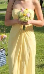 Canary Yellow Dresses For Weddings Bill Levkoff 484 Size 6 Bridesmaid Dresses
