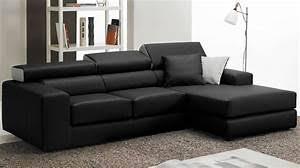 canap d angle cuir noir canapé d angle cuir noir canap d 39 angle en cuir noir prix