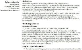 Nurse Resume Objectives Samples Resume Exampl nursing resume