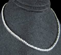 chain necklace diamond images Tennis necklace diamond 8 00 ct gold anniversary set certified jpg