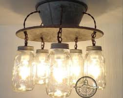 Rustic Kitchen Lighting Uniquely Crafted Mason Jar Lights U0026 Modern By Lampgoods On Etsy