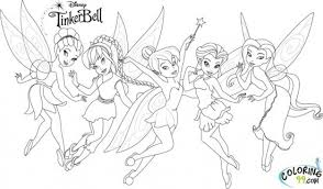 tinkerbell outline tattoo color