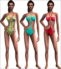 Liana Sims 2 Preview Women S Clothing Swimwear Mod The Sims Summer Glamour Sweet And Glamorous Swimwear For