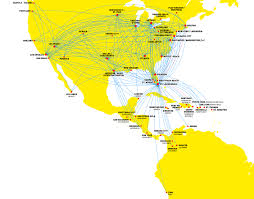 Map Of Chicago O Hare by Spirit Airlines Route Map My Blog