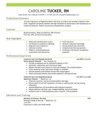 Sample Staff Nurse Resume by Best Intensive Care Unit Registered Nurse Resume Example Livecareer