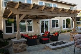 Patio Covering Designs by Wood Tellis Patio Cover Attached To House Gallery Western Outdoor